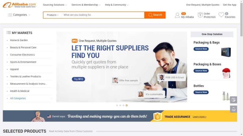 Alibaba import