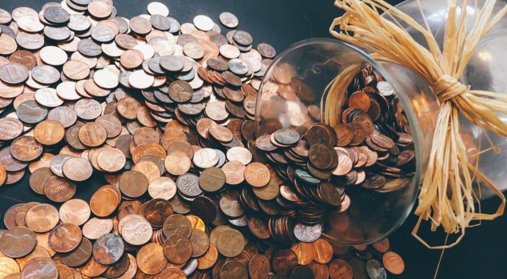 pennies in a jar, personal finance tips