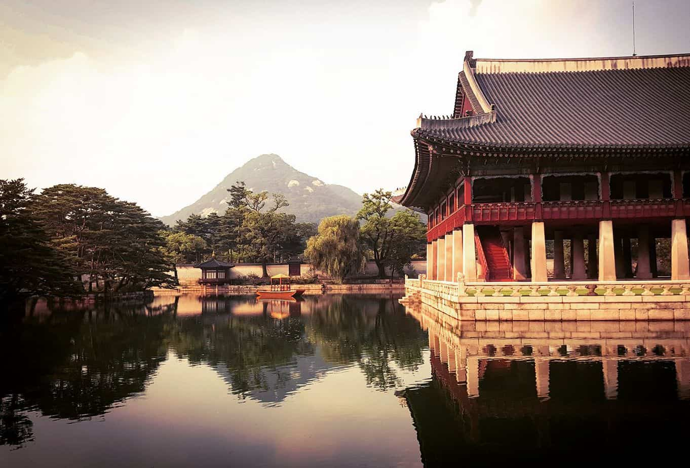 Temple grounds in South Korea