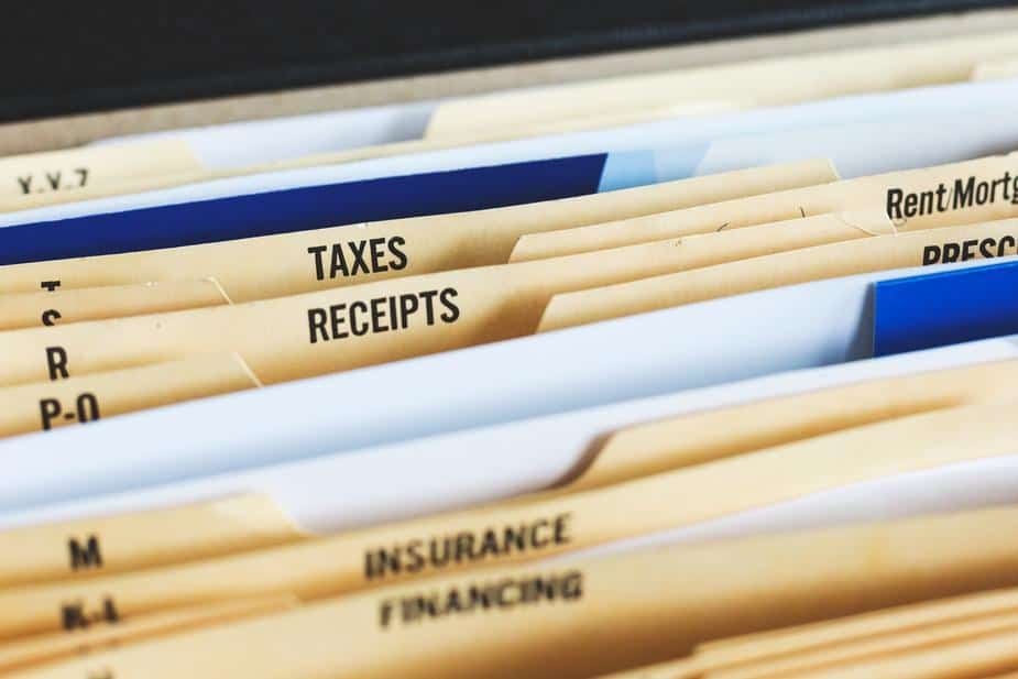Folders for tax documents