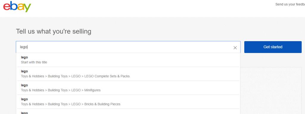 choose a category ebay