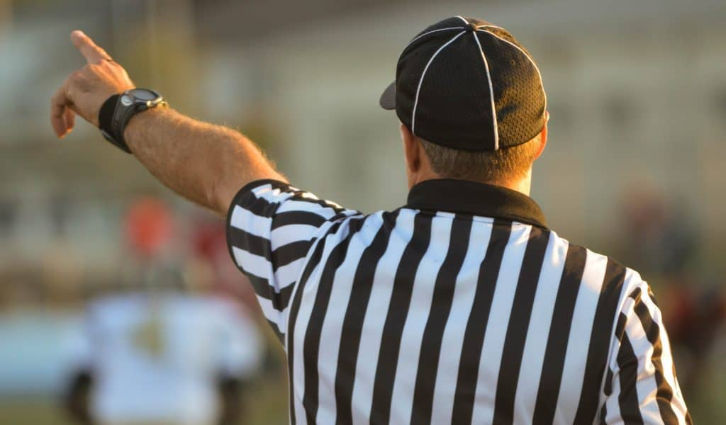 Referee giving a signal