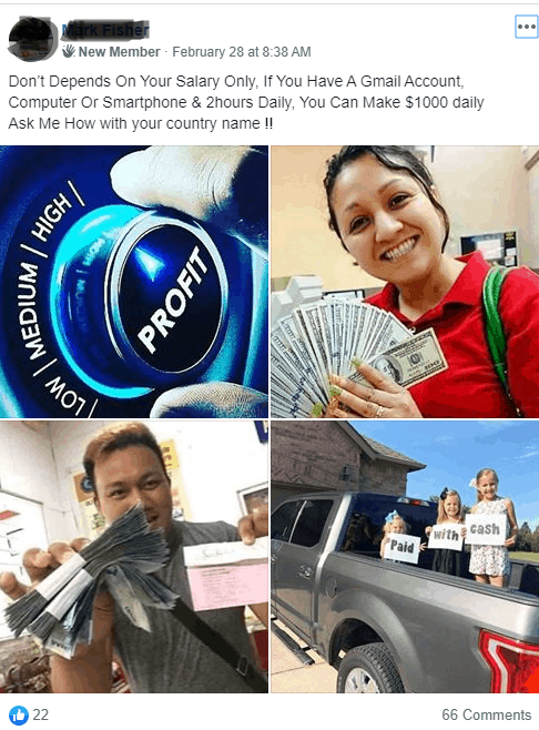 facebook fraud, online scam